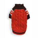 View Image 1 of Ski Lodge Dog Sweater by Hip Doggie - Orange