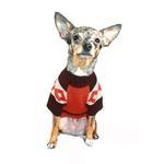 View Image 3 of Ski Lodge Dog Sweater by Hip Doggie - Orange