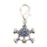View Image 1 of Skull D-Ring Pet Collar Charm by foufou Dog - Blue