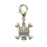 View Image 1 of Skull D-Ring Pet Collar Charm by foufou Dog - Clear