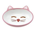 View Image 1 of Sleepy Kitty Pink Cat Bowl