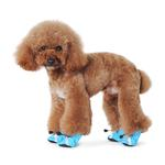 View Image 2 of Slip-On Paws Dog Booties by Dogo - Light Blue
