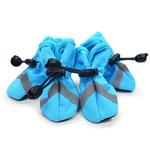View Image 1 of Slip-On Paws Dog Booties by Dogo - Light Blue