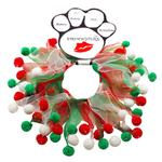 View Image 1 of Smoochers Pet Scrunchie - Christmas Fuzzy Wuzzy