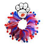 View Image 1 of Smoochers Pet Scrunchie - Patriotic Fuzzy Wuzzy