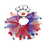 View Image 1 of Smoochers Pet Scrunchie - Patriotic Stars