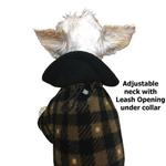 View Image 4 of SnoJam Dog Fleece Bodysuit by Ultra Paws - Buffalo Dog, Black/Taupe