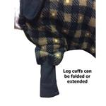 View Image 6 of SnoJam Dog Fleece Bodysuit by Ultra Paws - Buffalo Dog, Black/Taupe