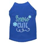 View Image 1 of Snow Cute Dog T-Shirt - Blue