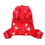 View Image 2 of Snowflake Dog Long Johns by Hip Doggie - Red