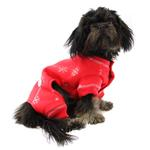 View Image 3 of Snowflake Dog Long Johns by Hip Doggie - Red