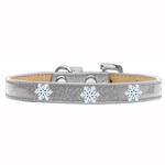 View Image 1 of Snowflake Widget Dog Collar - Silver Ice Cream