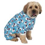 View Image 1 of Snowman Dog Pajamas - Antique Blue