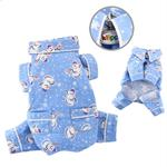 View Image 1 of Snowmen and Snowflakes Flannel Dog Pajamas by Klippo