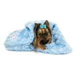 View Image 4 of Snuggle Pup Sleeping Bag Dog Bed by Hello Doggie - Rosebud Blue