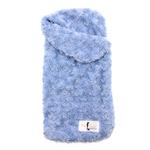 View Image 1 of Snuggle Pup Sleeping Bag Dog Bed by Hello Doggie - Rosebud Blue