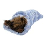 View Image 3 of Snuggle Pup Sleeping Bag Dog Bed by Hello Doggie - Rosebud Blue