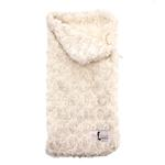 View Image 1 of Snuggle Pup Sleeping Bag Dog Bed by Hello Doggie - Rosebud Cream