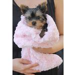 View Image 4 of Snuggle Pup Sleeping Bag Dog Bed by Hello Doggie - Rosebud Pink