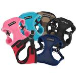 View Image 3 of Soft Adjustable Step-In Dog Harness by Puppia - Navy