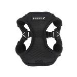 View Image 1 of Soft Adjustable Step-In Dog Harness by Puppia - Black