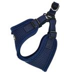 View Image 4 of Soft Adjustable Step-In Dog Harness by Puppia - Navy