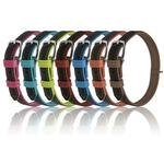View Image 2 of Soft Leather Dual Color Dog Collar - Teal