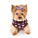 View Image 3 of Soft Purple Heart Dog Vest by Hip Doggie