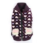 View Image 1 of Soft Purple Heart Dog Vest by Hip Doggie
