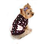View Image 2 of Soft Purple Heart Dog Vest by Hip Doggie