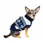 View Image 3 of Snowflake Fleece Dog Vest by Hip Doggie - Blue