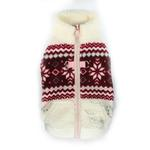 View Image 1 of Snowflake Fleece Dog Vest by Hip Doggie - White