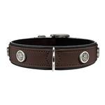 View Image 1 of Softie Athen Dog Collar by HUNTER - Brown/Black