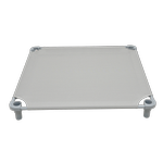View Image 3 of Solid Color Premium Weave Dog Cot - Gray