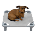 View Image 1 of Solid Color Premium Weave Dog Cot - Gray