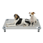 View Image 2 of Solid Color Premium Weave Dog Cot - Gray