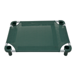 View Image 3 of Solid Color Premium Weave Dog Cot - Hunter Green