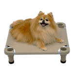 View Image 2 of Solid Color Premium Weave Dog Cot - Taupe