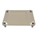 View Image 3 of Solid Color Premium Weave Dog Cot - Taupe