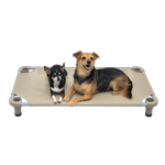 View Image 1 of Solid Color Premium Weave Dog Cot - Taupe