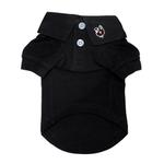 View Image 1 of Solid Dog Polo by Doggie Design - Jet Black