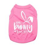 View Image 1 of Some Bunny Loves You Dog Shirt - Light Pink