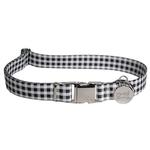 View Image 1 of Southern Dawg Gingham Dog Collar by Yellow Dog - Black