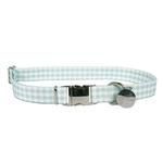 View Image 1 of Southern Dawg Gingham Dog Collar by Yellow Dog - Mint