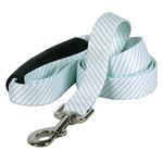 View Image 1 of Southern Dawg Seersucker EZ-Grip Dog Leash by Yellow Dog - Mint