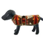 View Image 2 of Southwestern Blanket Dog Coat - Brown