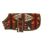View Image 4 of Southwestern Blanket Dog Coat - Brown