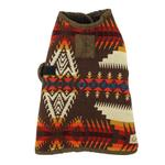 View Image 3 of Southwestern Blanket Dog Coat - Brown