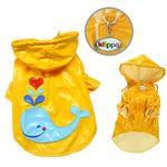 View Image 2 of Splashing Whale Dog Raincoat By Klippo