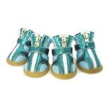 View Image 1 of Sporty Dog Boots - Teal Metallic